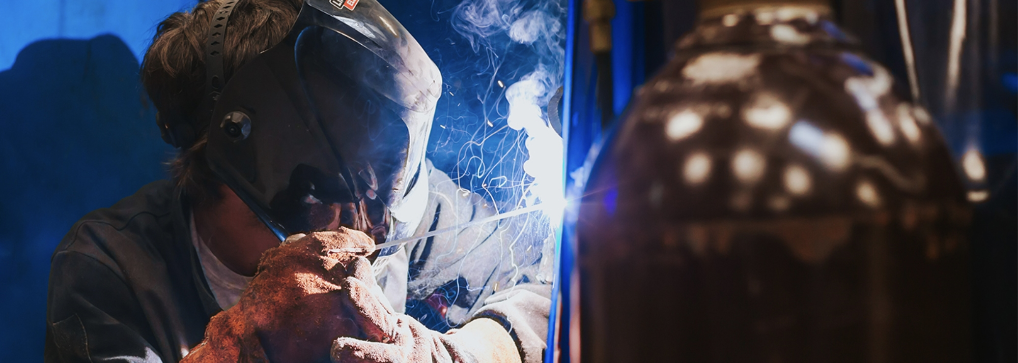 Close up photo of Someone Welding